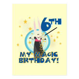 Magic 6th Birthday Tshirts and Gifts Postcard