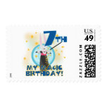 Magic 7th Birthday Tshirts and Gifts Stamps