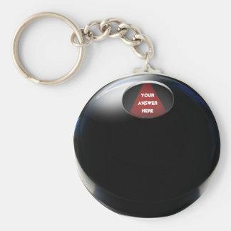Magic 8 Ball Basic Round Button Keychain