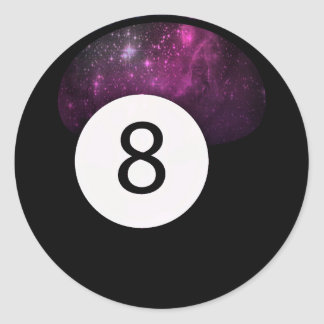 Magic 8 Ball Classic Round Sticker