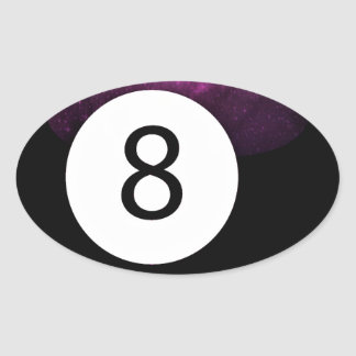 Magic 8 Ball Oval Sticker