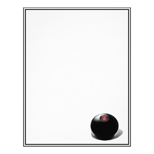 "Magic 8 Ball says, ""Outlook is good!"" Personalized Letterhead"