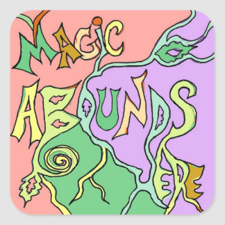 magic abounds decals square sticker