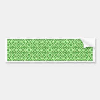 Magic Abstracts Green Bumper Sticker