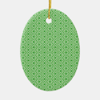 Magic Abstracts Green Ceramic Ornament