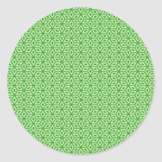 Magic Abstracts Green Classic Round Sticker
