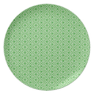 Magic Abstracts Green Dinner Plate