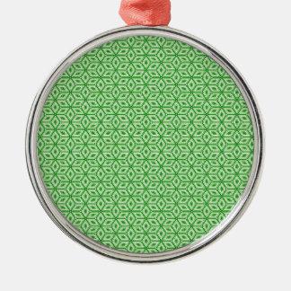 Magic Abstracts Green Metal Ornament