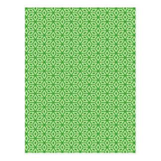Magic Abstracts Green Postcard
