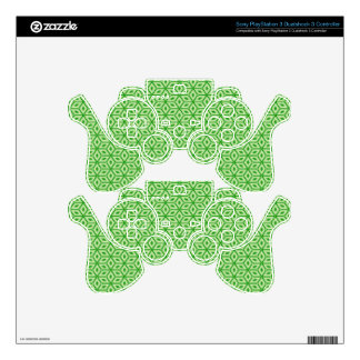 Magic Abstracts Green PS3 Controller Decals
