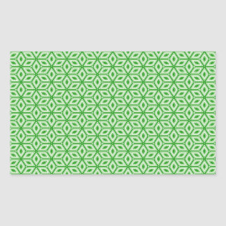 Magic Abstracts Green Rectangular Sticker