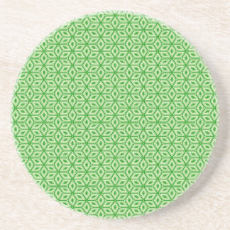 Magic Abstracts Green Sandstone Coaster