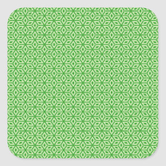 Magic Abstracts Green Square Sticker