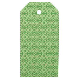 Magic Abstracts Green Wooden Gift Tags