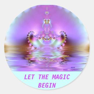 Magic Afloat Classic Round Sticker