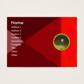 MAGIC AGATE  , bright vibrant red pink grey Business Card