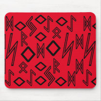 Magic alphabet pattern red mouse pad