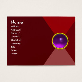 MAGIC AMETHYST, bright vibrant red pink purple Business Card