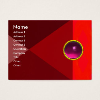 MAGIC AMETHYST  , bright vibrant red pink purple Business Card