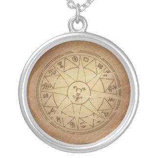 Magic Amulet for Safe Travel Magic Charms Round Pendant Necklace