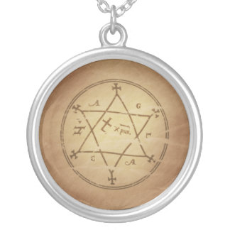 Magic Amulet Makes Garments Auspicious Silver Plated Necklace