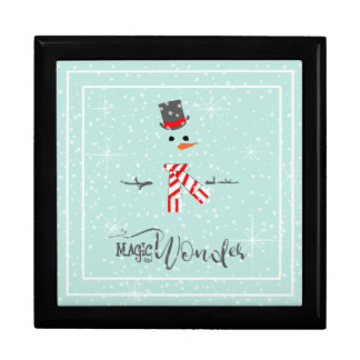 Magic and Wonder Christmas Snowman Mint ID440 Gift Box