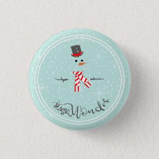 Magic and Wonder Christmas Snowman Mint ID440 Pinback Button