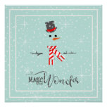 Magic and Wonder Christmas Snowman Mint ID440 Poster