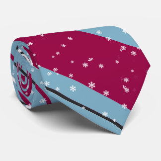 Magic and Wonder Christmas Stripes Blue ID440 Neck Tie