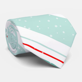 Magic and Wonder Christmas Stripes Mint ID440 Tie