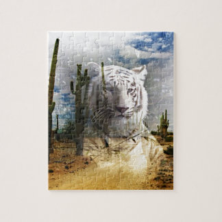 Magic Animals WHITE TIGER Jigsaw Puzzle