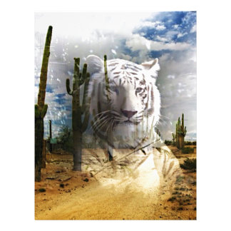 Magic Animals WHITE TIGER Letterhead Design