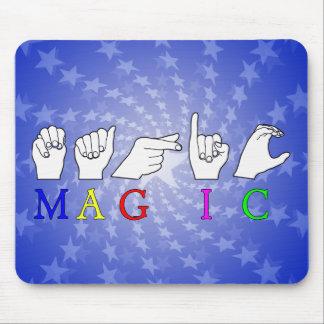 MAGIC ASL FINGER SPELLED MOUSEPADS