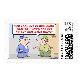 magic beans panhandler postage stamp