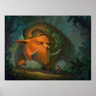 Magic Bear 24x18 poster