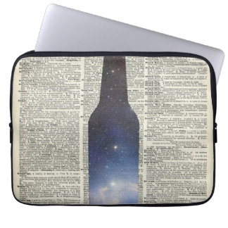 Magic Beer Space over Dictionary book page Computer Sleeves