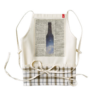 Magic Beer Space over Dictionary book page Zazzle HEART Apron