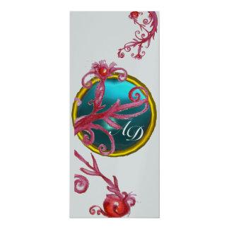 MAGIC BERRIES 4,MONOGRAM blue red purple silver Card