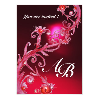 MAGIC BERRIES 4,MONOGRAM red burgundy Card