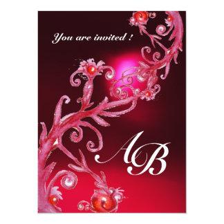 MAGIC BERRIES 4,MONOGRAM red burgundy Card