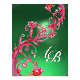 MAGIC BERRIES 4,MONOGRAM red jade gold Card