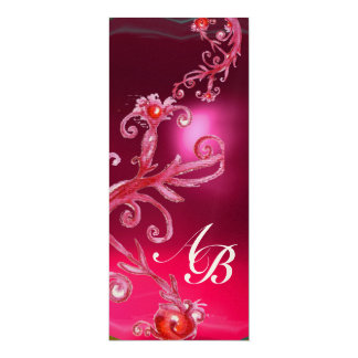 MAGIC BERRIES 4,MONOGRAM red ruby champagne Card