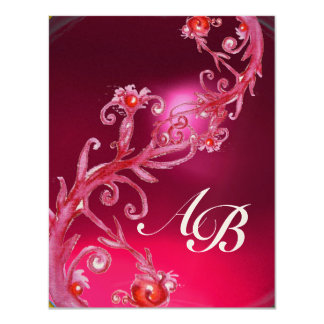 MAGIC BERRIES 4,MONOGRAM red ruby champagne Card