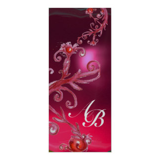 MAGIC BERRIES 4,MONOGRAM red ruby white silver Card