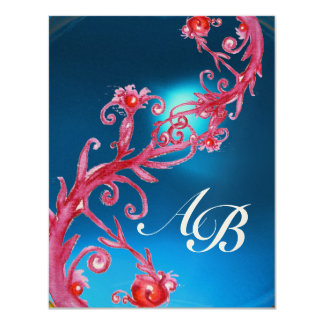 MAGIC BERRIES 4,MONOGRAM red sapphire champagne Card
