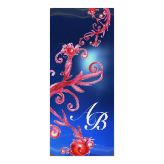 MAGIC BERRIES 4,MONOGRAM red sapphire champagne Card