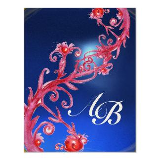MAGIC BERRIES 4,MONOGRAM red  sapphire gold Custom Announcement