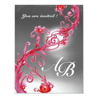 MAGIC BERRIES 4,MONOGRAM red white crystal Card