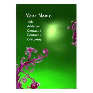 MAGIC BERRIES GREEN EMERALD MONOGRAM BUSINESS CARD TEMPLATES