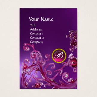 MAGIC BERRIES MONOGRAM GEM amethyst purple pink Business Card
